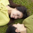 Royalty-Free Stock Photo: Young  couple in love on the meadow