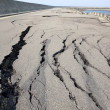 Collapse and cracked road - Stock Photo