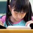 Little girl studying in classroom at school — Stock Photo