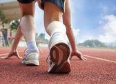 спортсмену готов к гонке — Стоковое фото