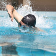 Stock Photo: Swimming with freestyle