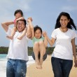Royalty-Free Stock Photo: Happy  family  on the beach