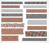Greek style borders — Stock Vector