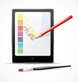 Digitale kunst-konzept — Stockvektor