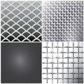 Metallic mesh set — Stock Vector