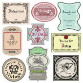 Set of vintage style labels — Stock Vector
