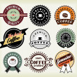 Set of coffee labels and badges — Stock Vector