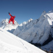 Snowboarder Flying In The Mountains — Stock Photo #8322519