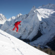 Snowboarder Flying In The Mountains — Stock Photo #8322577
