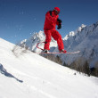 Snowboarder Flying In The Mountains — Stock Photo #8322674