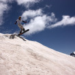 Snowboarder Flying In The Mountains — Stock Photo #8322714