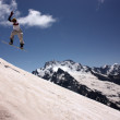 Snowboarder Flying In The Mountains — Stock Photo #8322745