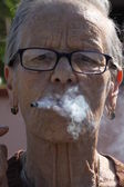 Old smoker — Stock Photo