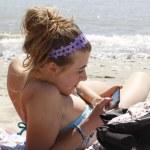 Primo sole di una giovane ragazza — Stock Photo #10635287
