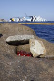 Concordia cruise ship sank — Stock Photo
