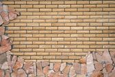 The old brick wall background — Stock Photo