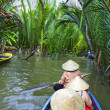 Canal in Mekong Delta - Stock Photo
