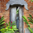 Balinese door — Stock Photo