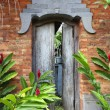Balinese door - Stock Photo
