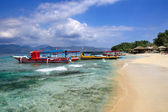 Strand op gili air — Stockfoto