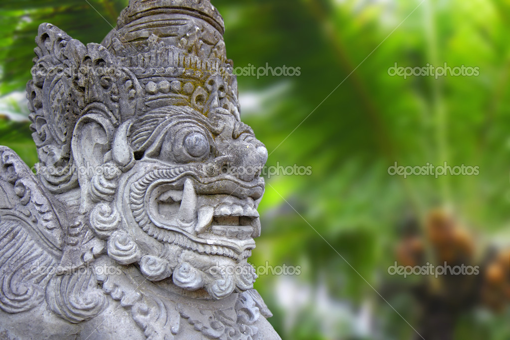 Decorated statue of traditional hindu god, Bali, Indonesia    #8364095