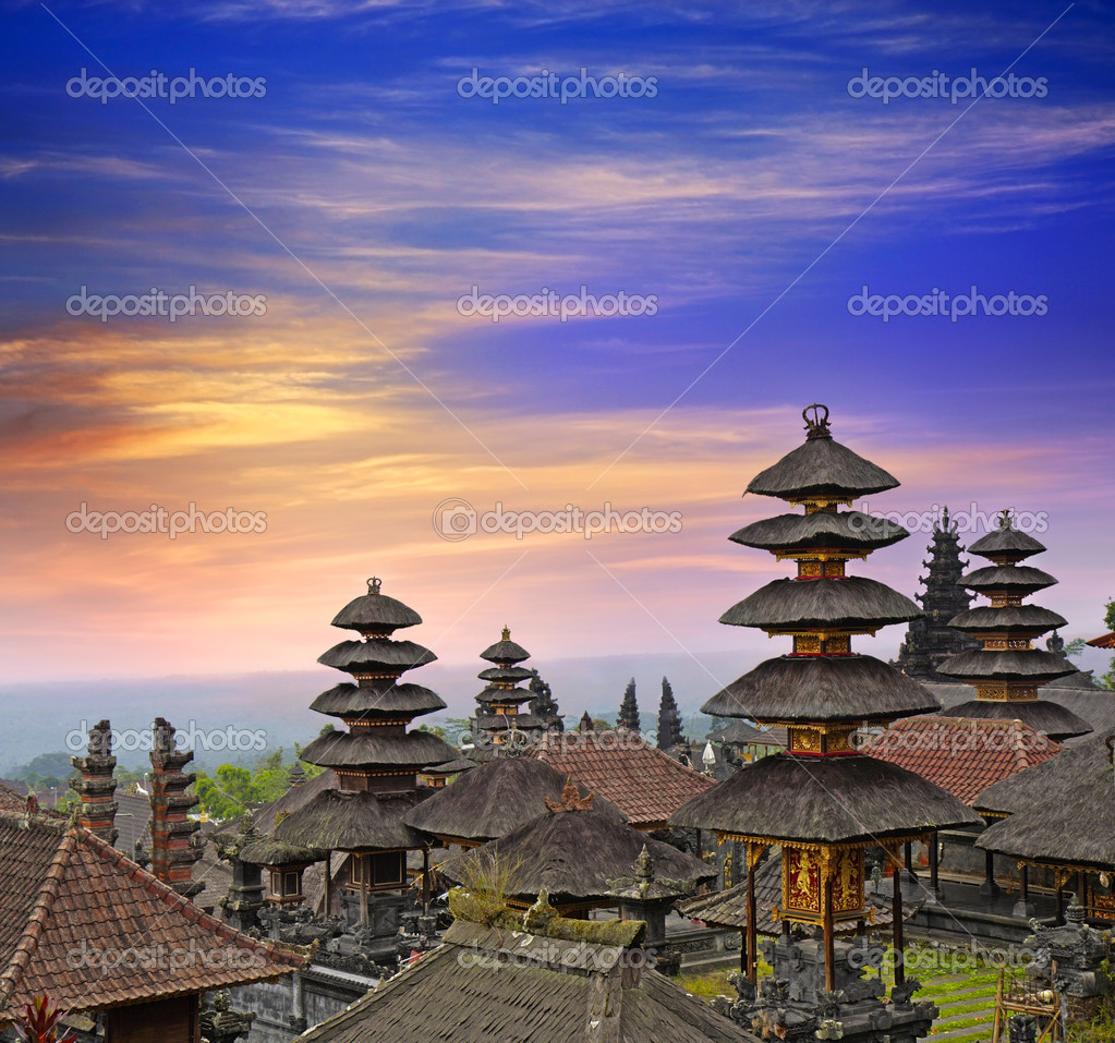 Pura Besakih - largest hindu temple of Bali, Indonesia  — Stock Photo #8364196