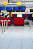 Airport / departures check-in / unrecognizable — 图库照片