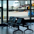 Airport / Empty Terminal / Waiting Area — Stock Photo