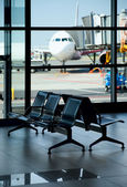 Airport / Empty Terminal / Waiting Area — Stockfoto