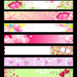 Vector de stock : Love & hearts website banners / vector / set #2