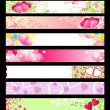 Love & hearts website banners / vector / set #2 — Stock Vector