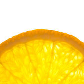 Slice of fresh Orange / Super Macro / Back lit — Stock Photo
