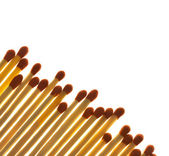 Set of Matches close up on white background / with copy space / — Stock Photo