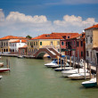 Stock Photo: Canal with colorful houses / Italy / nobody