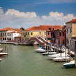 Canal with colorful houses / Italy / nobody — Stock Photo #9536197