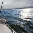 Sailing into the wind / sunlight — Stock Photo