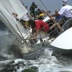 Man's storm sails — Stock Photo
