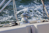 Sail Boat Winch / yachting — Stock Photo