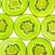 Slises of Fresh Kiwi / close-up background — Stock Photo
