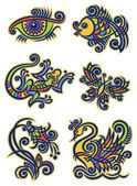 Decorative illustrations1 — Stock Vector