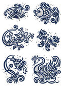 Decorative illustrations2 — Stock Vector