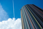 Trace of the plane in the sky. paris. France — Stock Photo