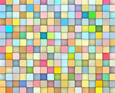 Abstrakt 3d tonad bakgrund kuber i glad fruktiga färger — Stockfoto
