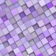 Abstract backdrop 3d render cubes in different shades of purple — Stock Photo