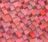 Abstract 3d gradient backdrop cubes in tangerine red — Stock Photo