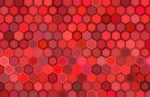 Abstrakt 3d göra hexagon bakgrund i röda färger — Stockfoto