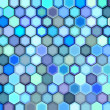 Abstract 3d render hexagon backdrop in blue purple colors — Foto Stock #10365640