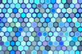 Abstract 3d render hexagon backdrop in blue purple colors — Stock Photo