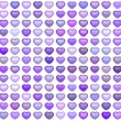 3d collection floating love heart in multiple purple — Stock Photo #10381089