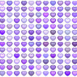 Stock Photo: 3d collection floating love heart in multiple purple